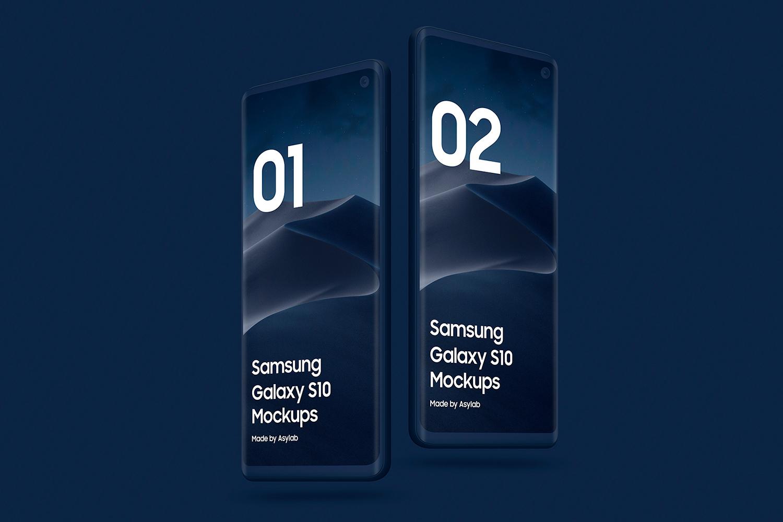 Samsung S10 - 21 Clay Mockups - 5K - PSD example image 23