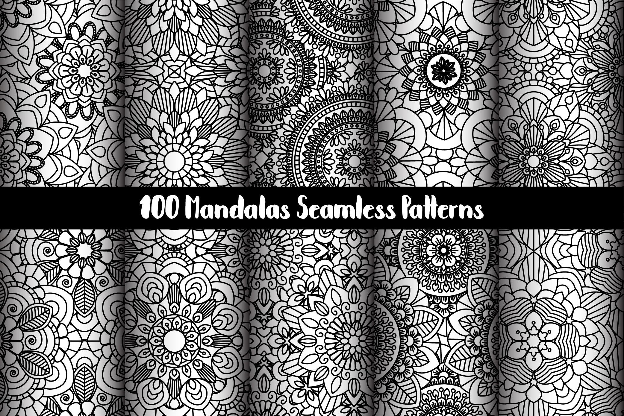 100 Mandalas Seamless Patterns example image 15