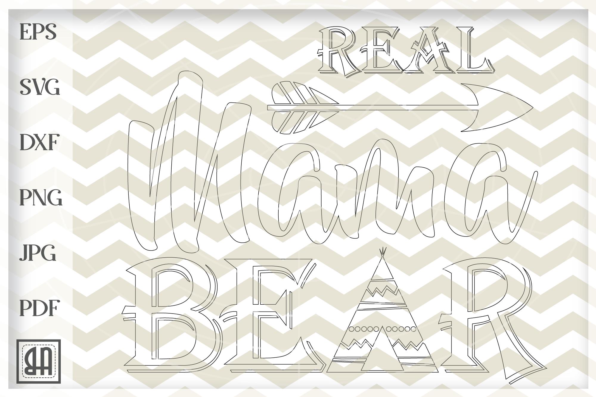 Real mama bear SVG - Mama SVG - Mothers Day svg digital example image 3