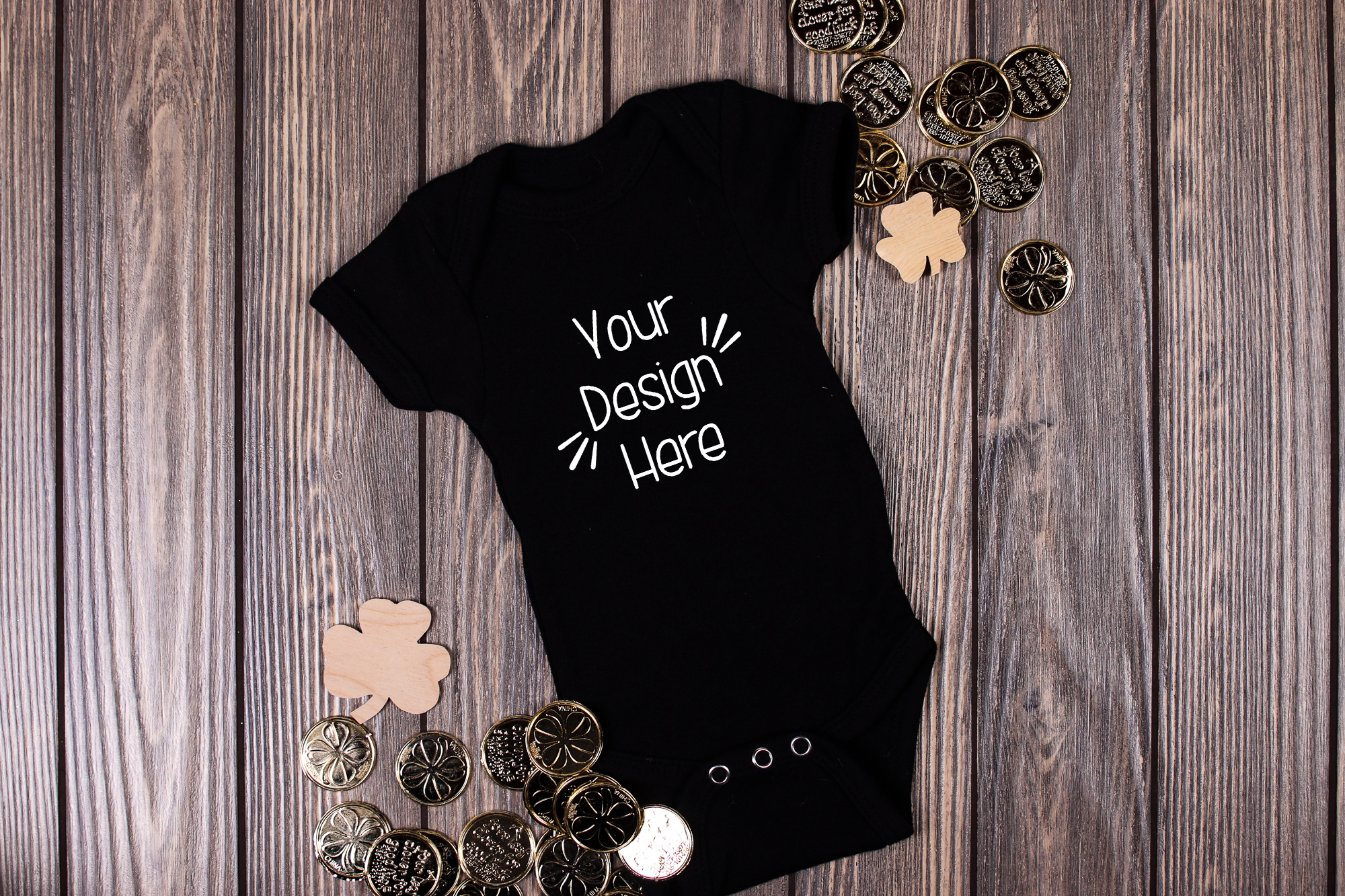 March Baby Suit Mockup 8| St Patricks Day Baby shirt Mockup example image 1