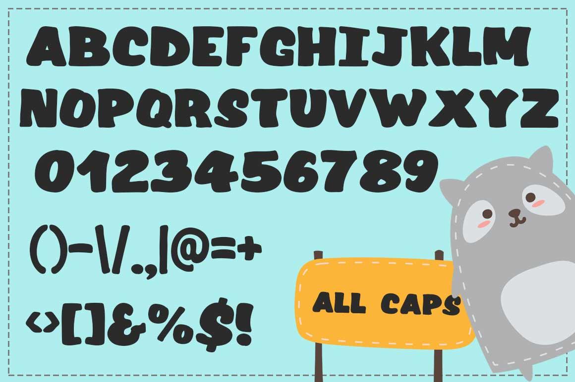 Raccoon Font example image 2