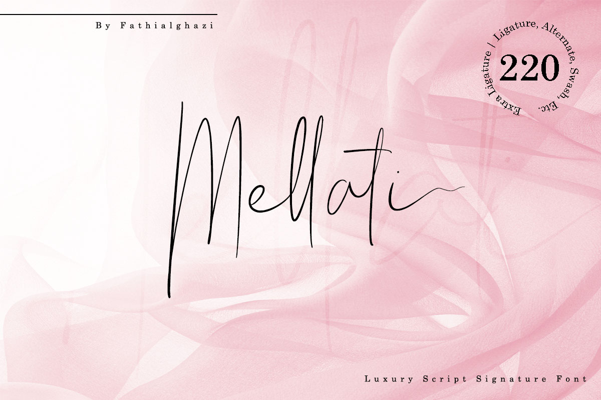 Mellati - Luxury Script Signature Font example image 1