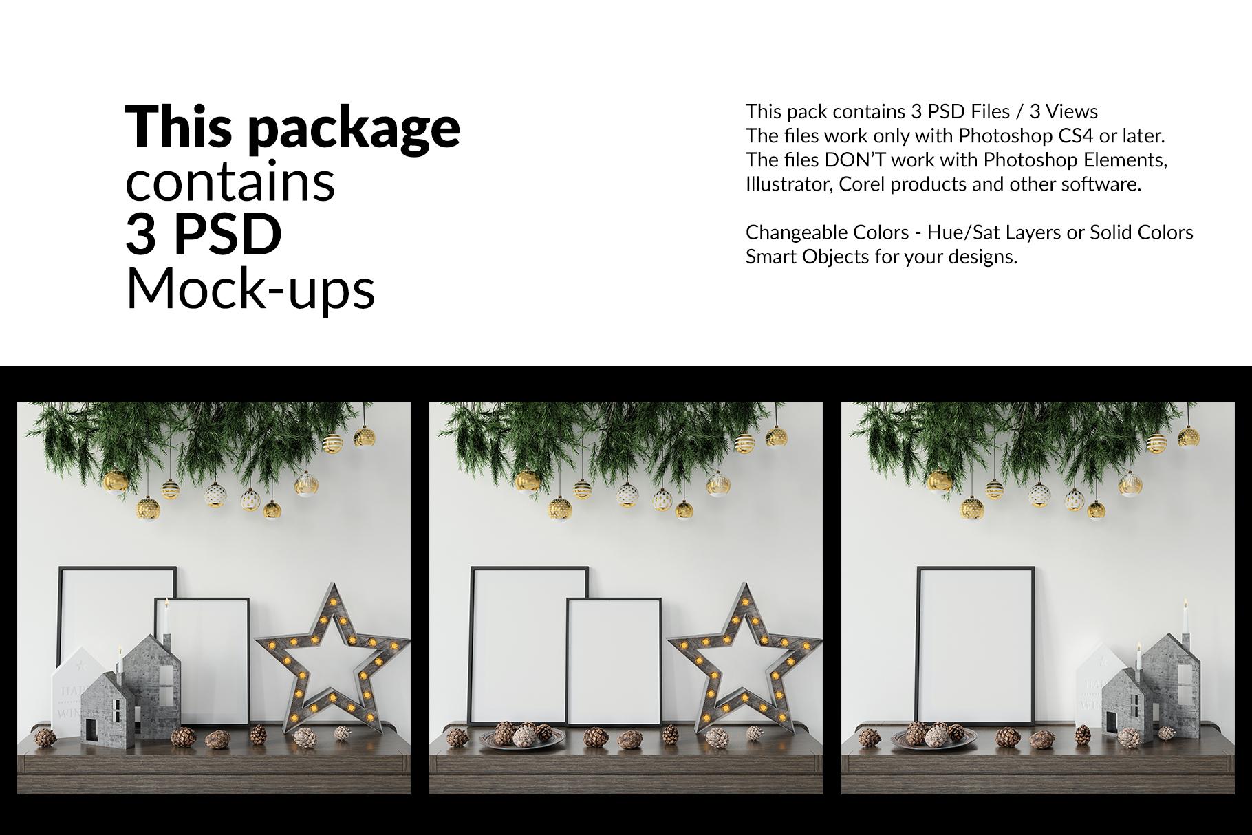 Christmas Frames & Wall Set example image 2