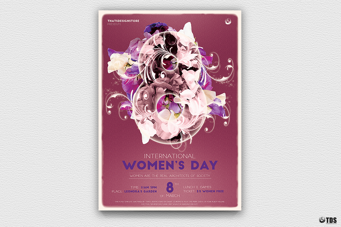 Womens Day Flyer Template V1 example image 2