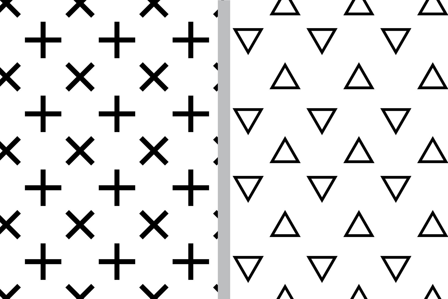 Black and White Seamless Patterns example image 6