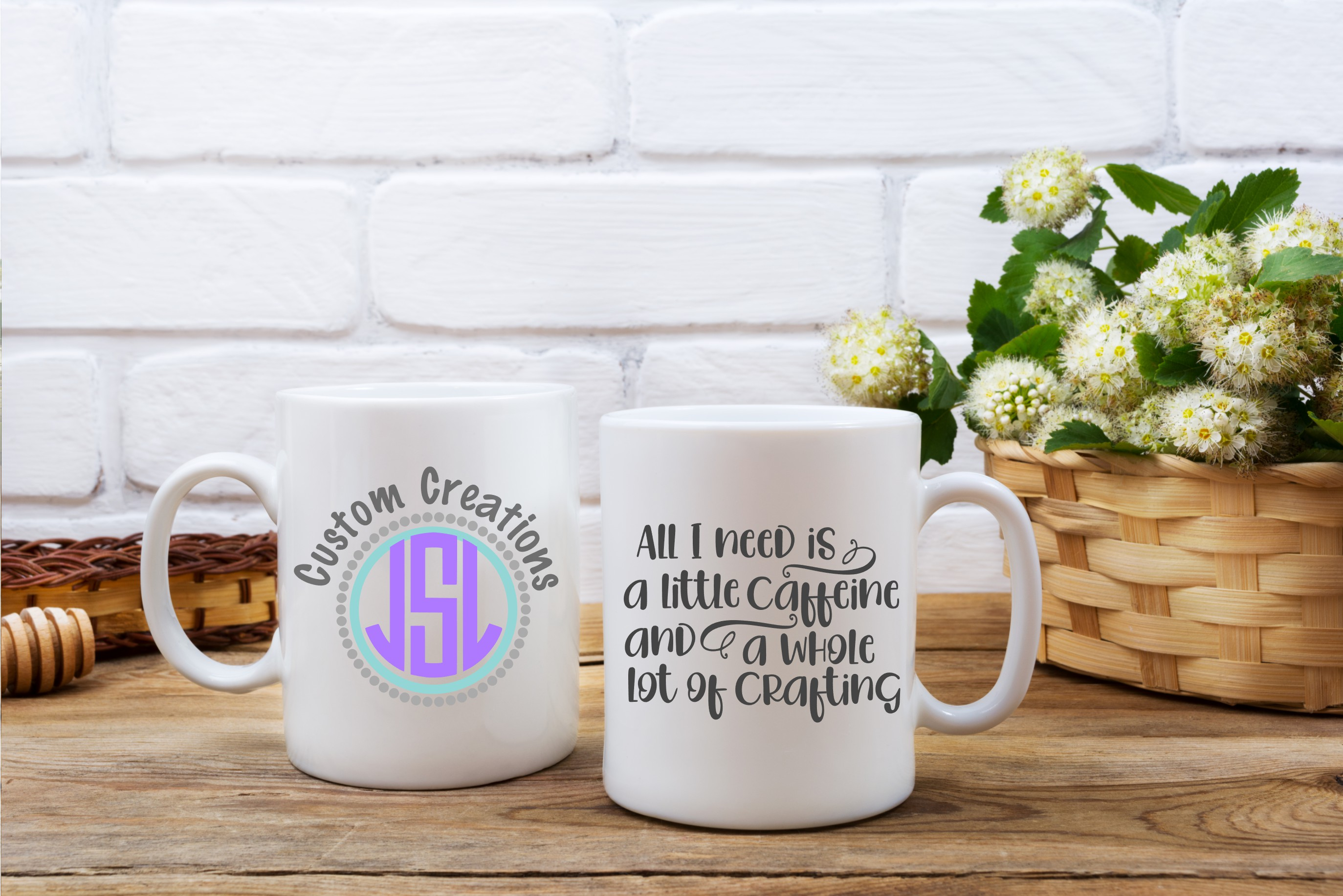Caffeine & a Whole Lot of Crafting | SVG DXF EPS PNG Files example image 2