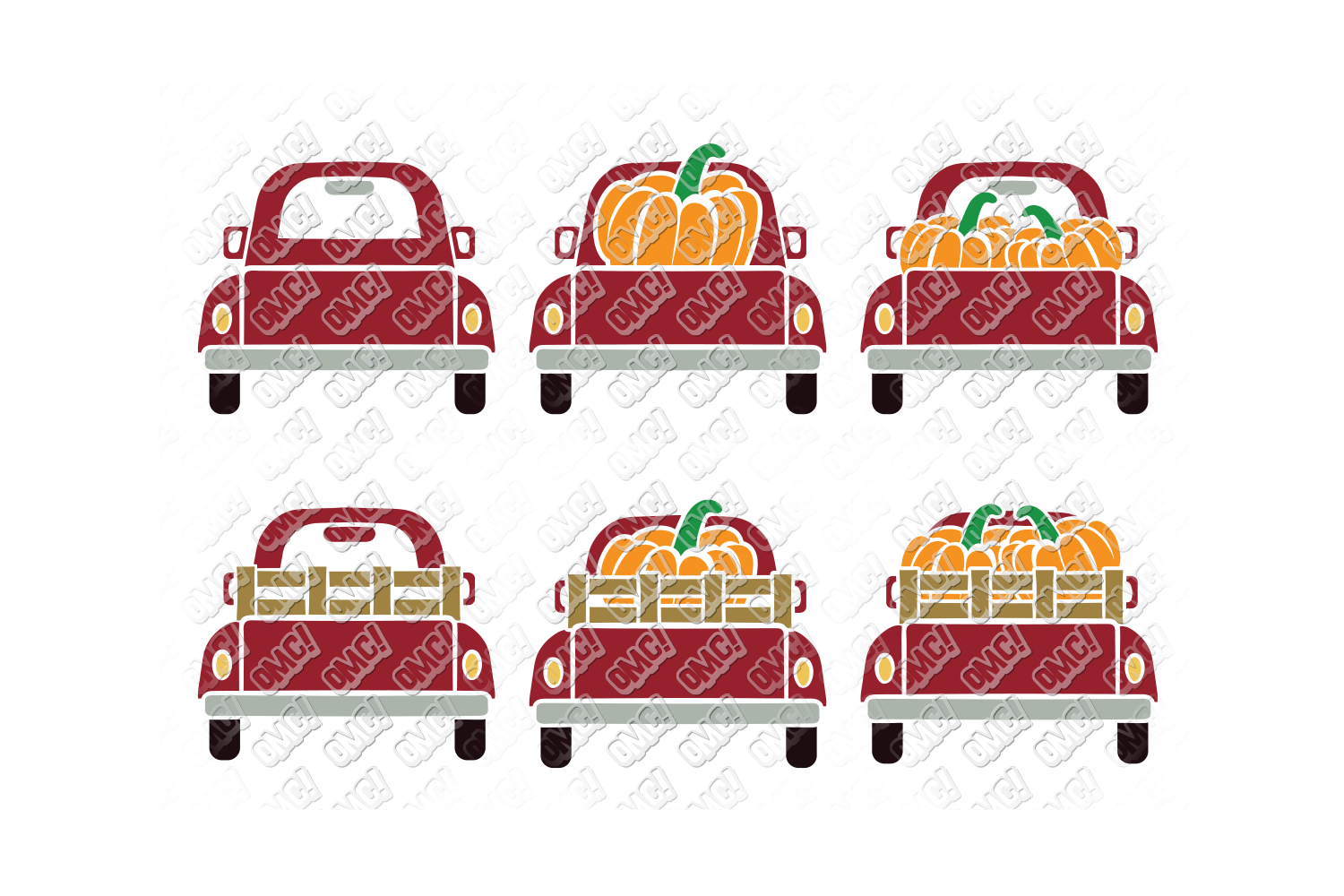 Vintage Pumpkin Truck Fall in SVG, DXF, PNG, EPS, JPEG example image 3