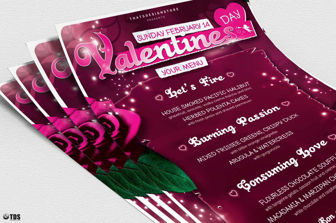 Valentines Day Menu Template V7 example image 5