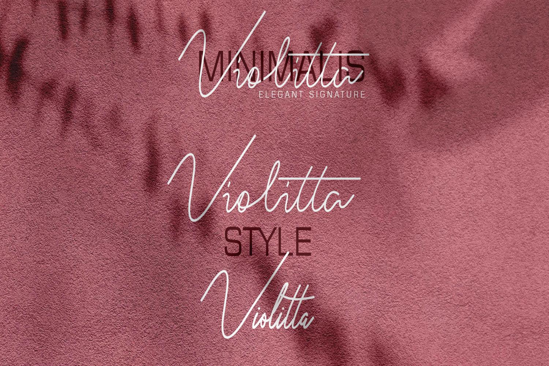 Violitta Signature typeface example image 8