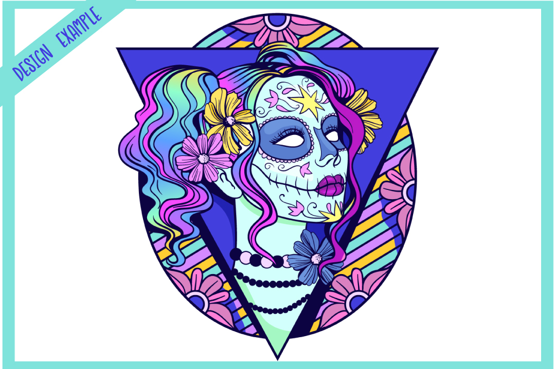 Sugar Skull SVG Collection | Calavera Ladies SVG example image 3