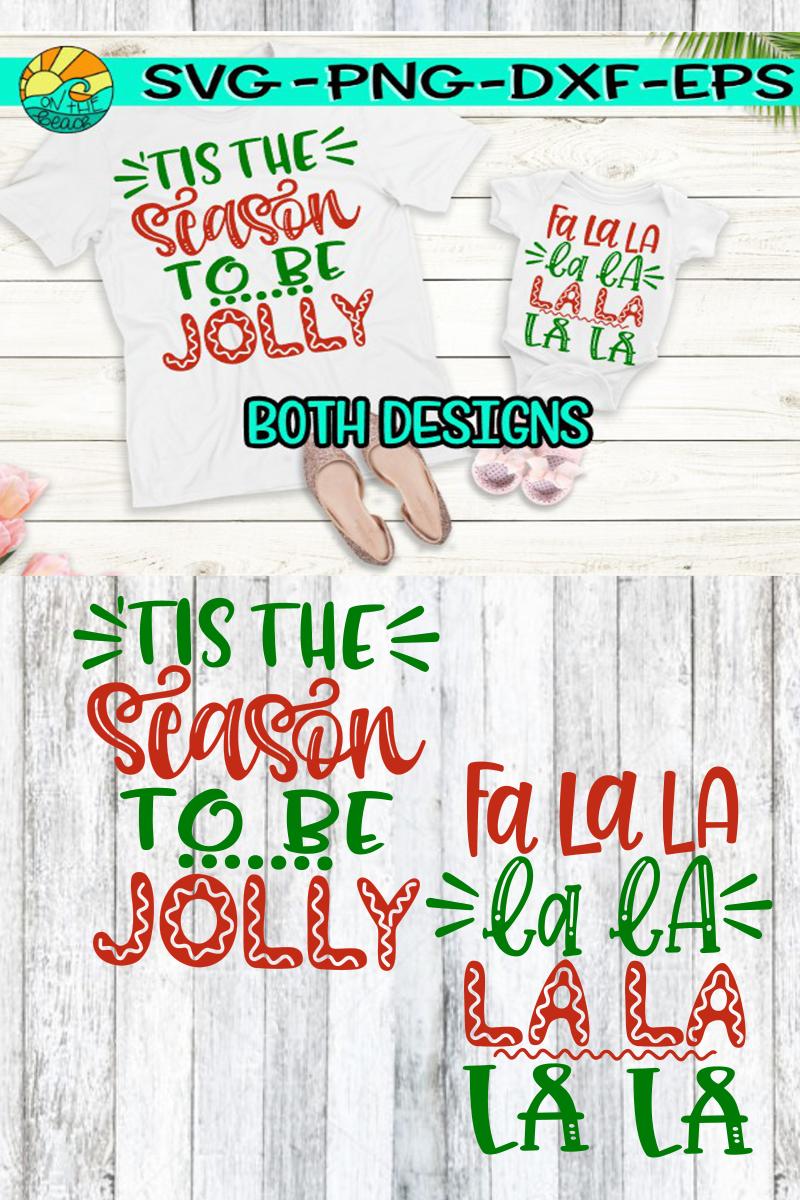 Tis the Season to be Jolly - Fa La La La La - Christmas SVG example image 2