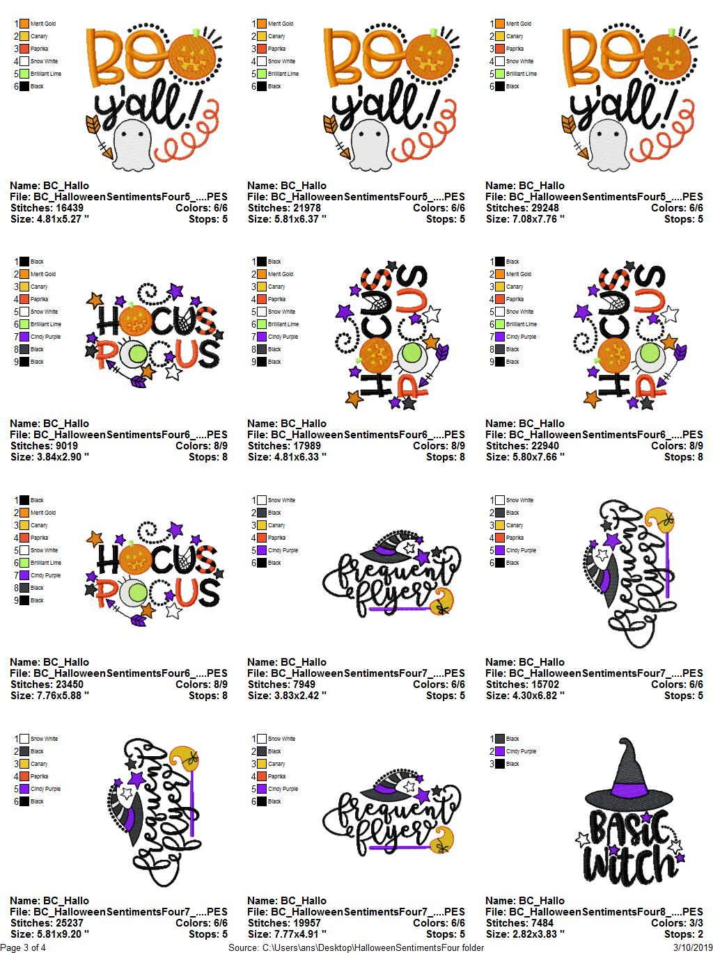 Halloween Sentiments Four - 12 Machine Embroidery Designs example image 16
