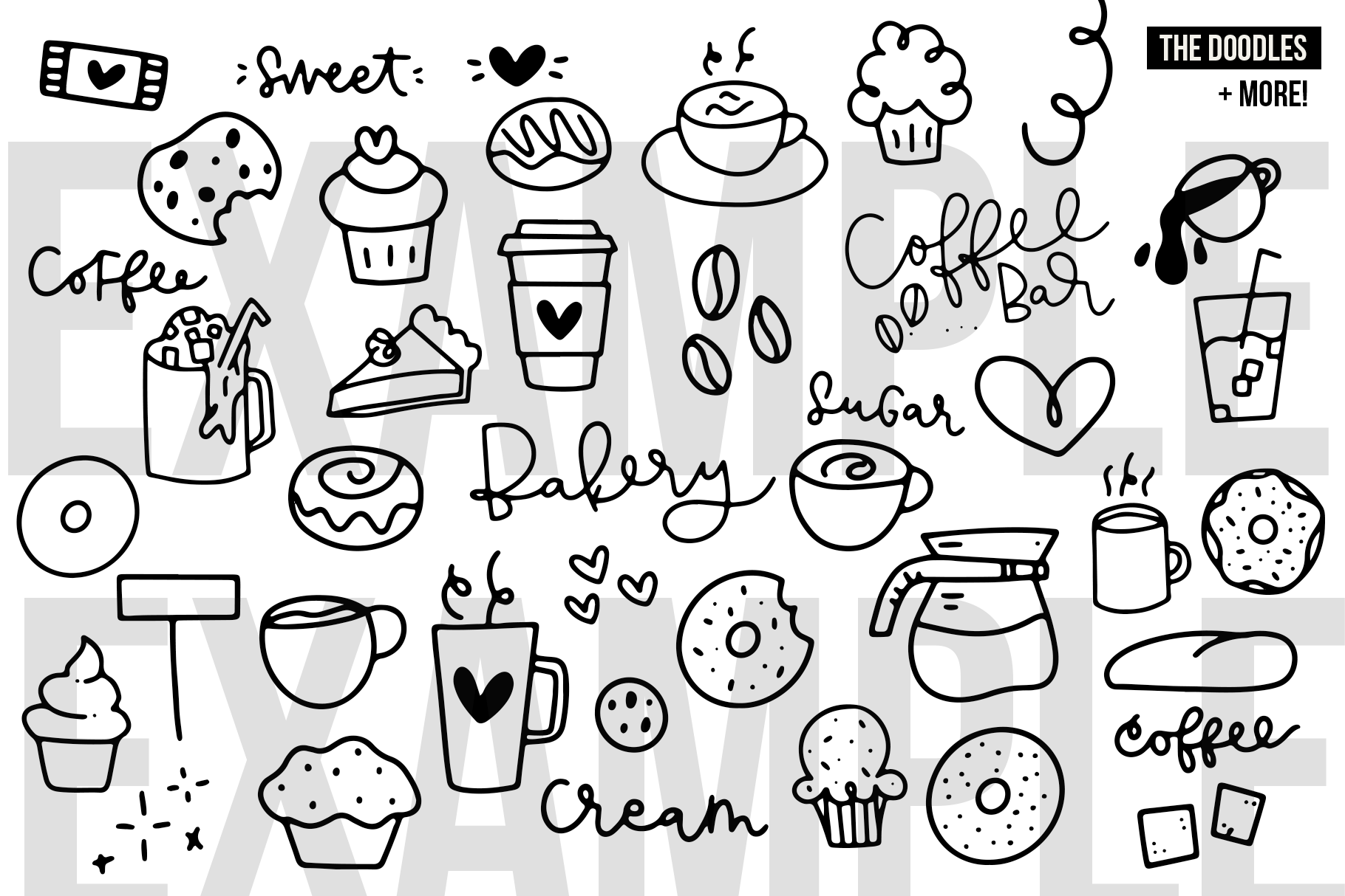Coffee Shop Doodles - Dingbat Font example image 4