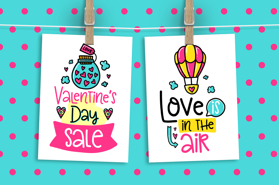 90 Valentine's Day Cards - Love Set example image 6