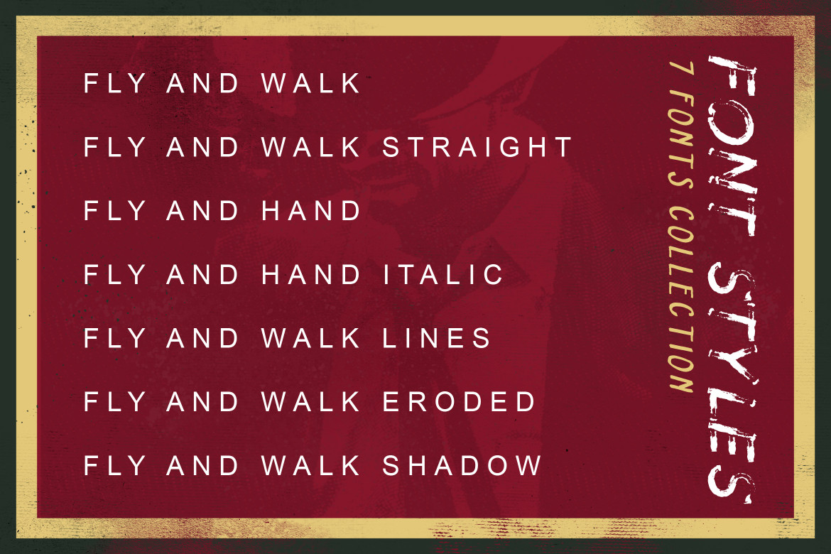 Fly and Walk Typeface example image 4