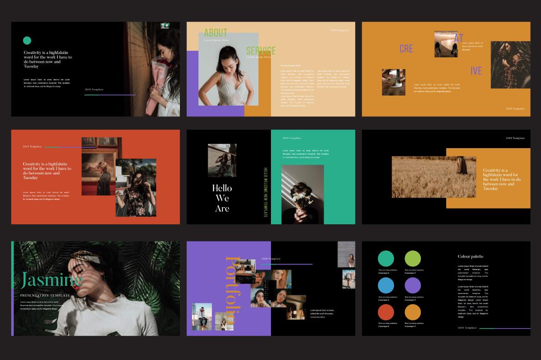 Jasmine Dark Lookbook - Fashion Google Slides example image 3