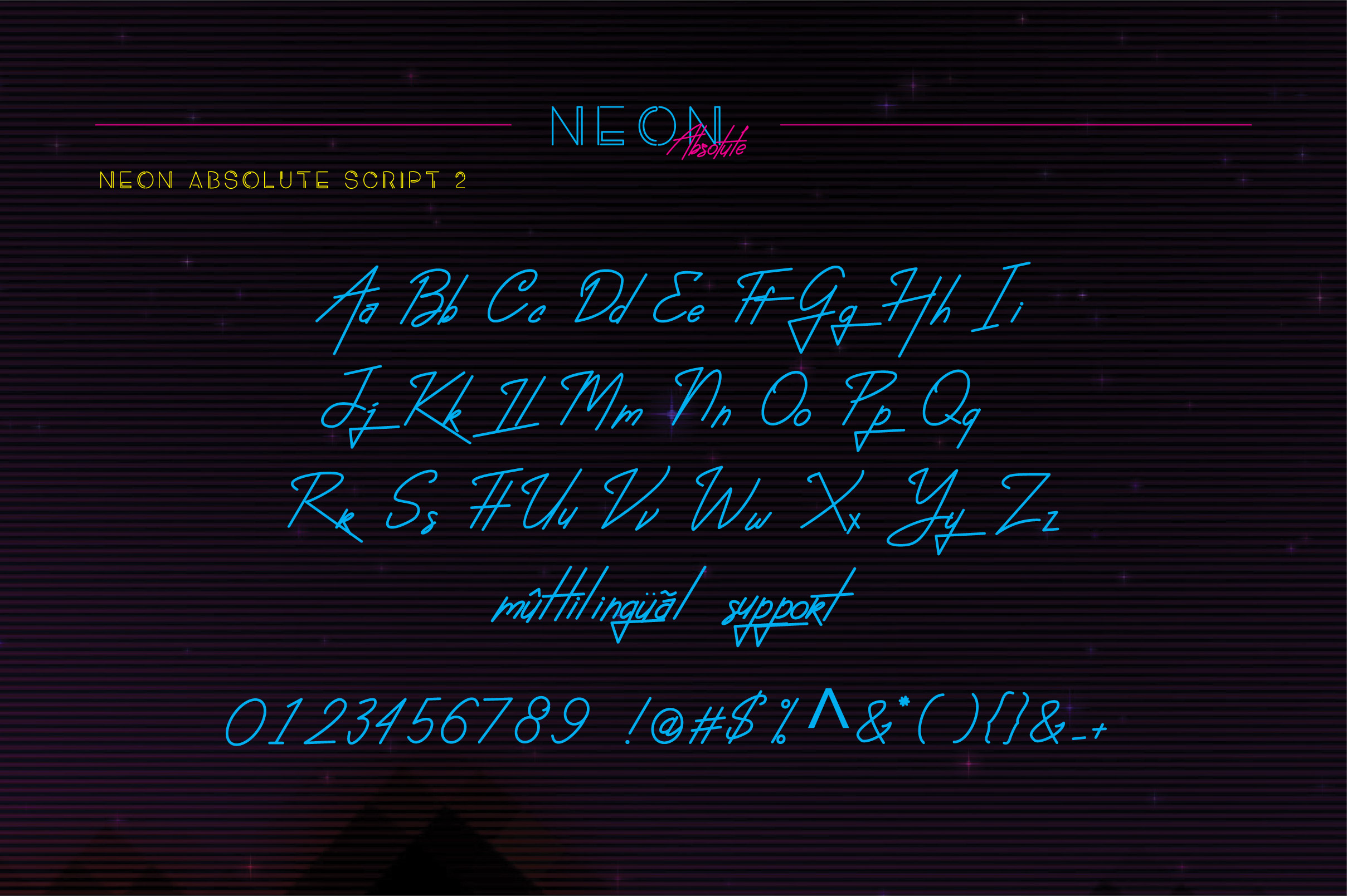 Neon Absolute - Font Duo example image 8