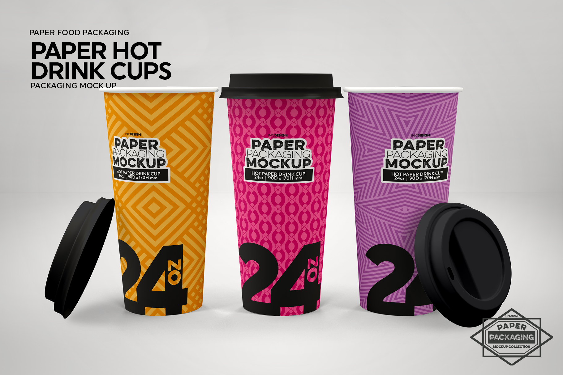 Paper Hot Drink Cups Packaging Mockup example image 7