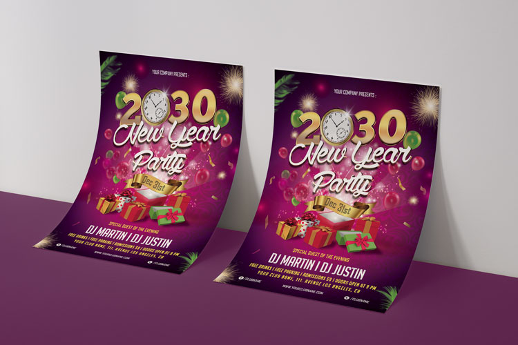 NEW YEAR PARTY FLYER 1 example image 2
