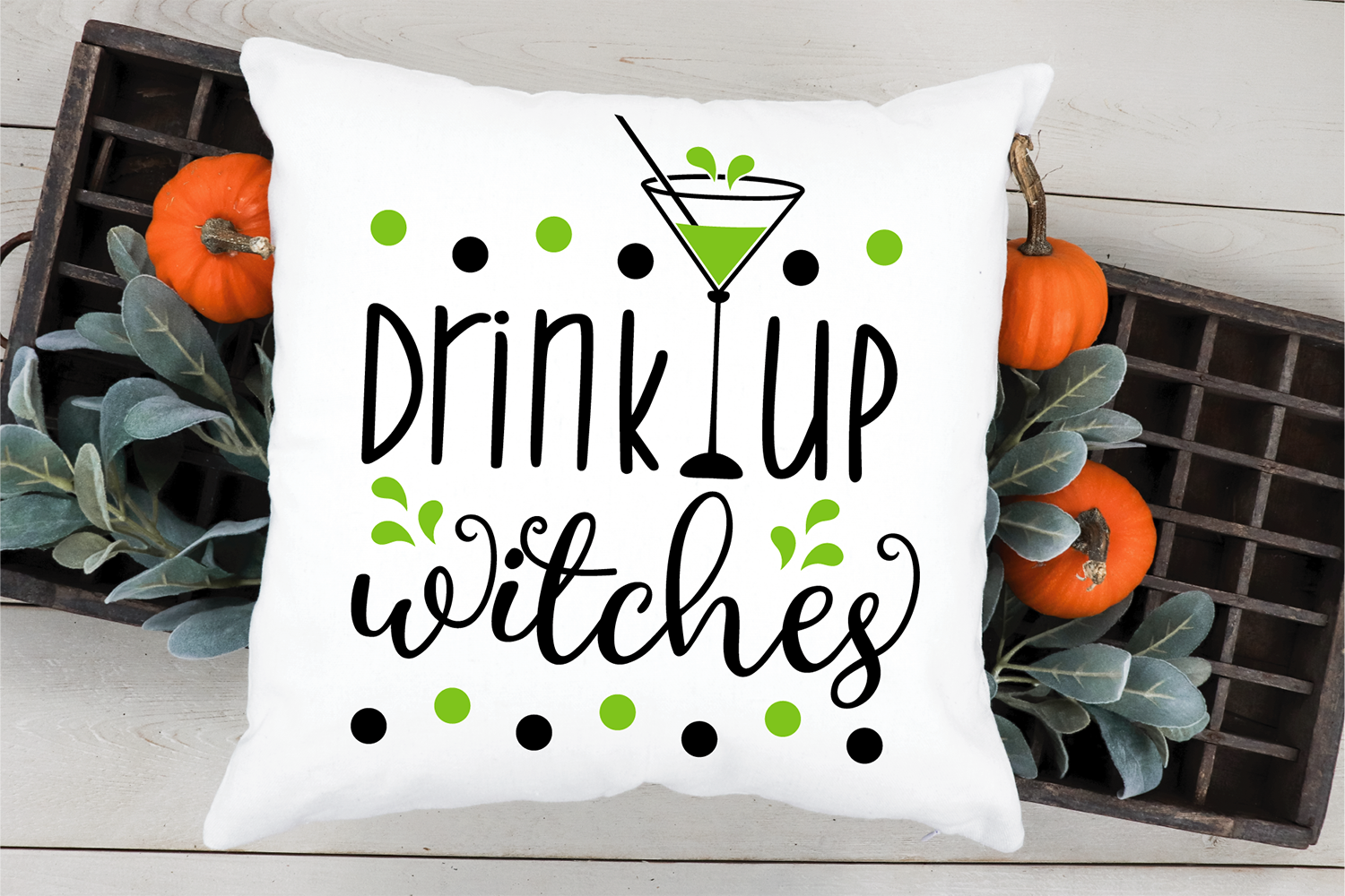 Drink up witches SVG, Halloween cut file example image 4