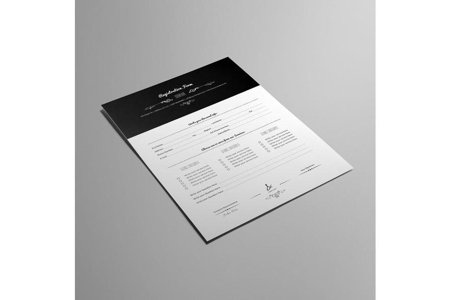 Registration Form Template v9 example image 3