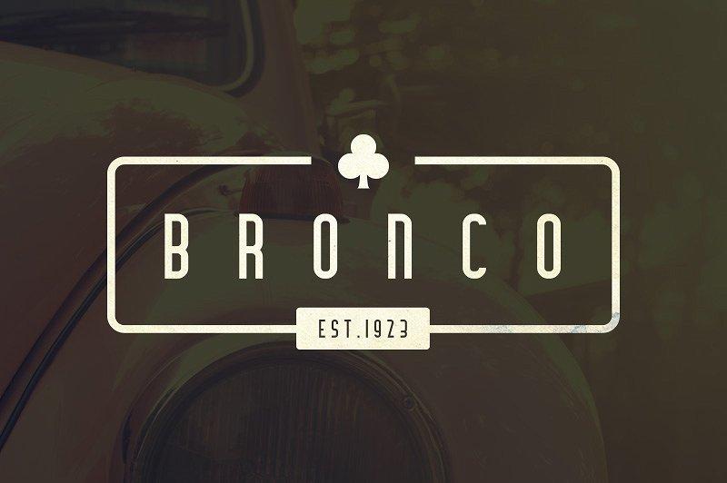 Bronco Typeface example image 2