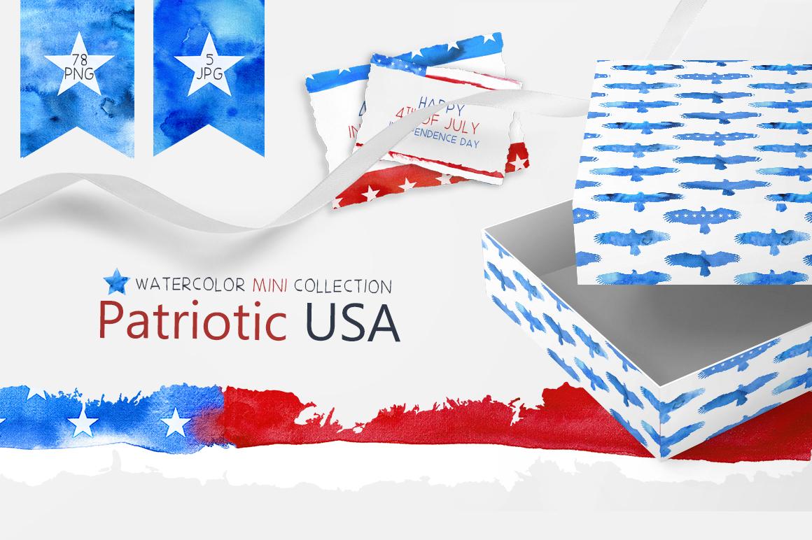 Patriotic USA. MINI Collection. example image 1