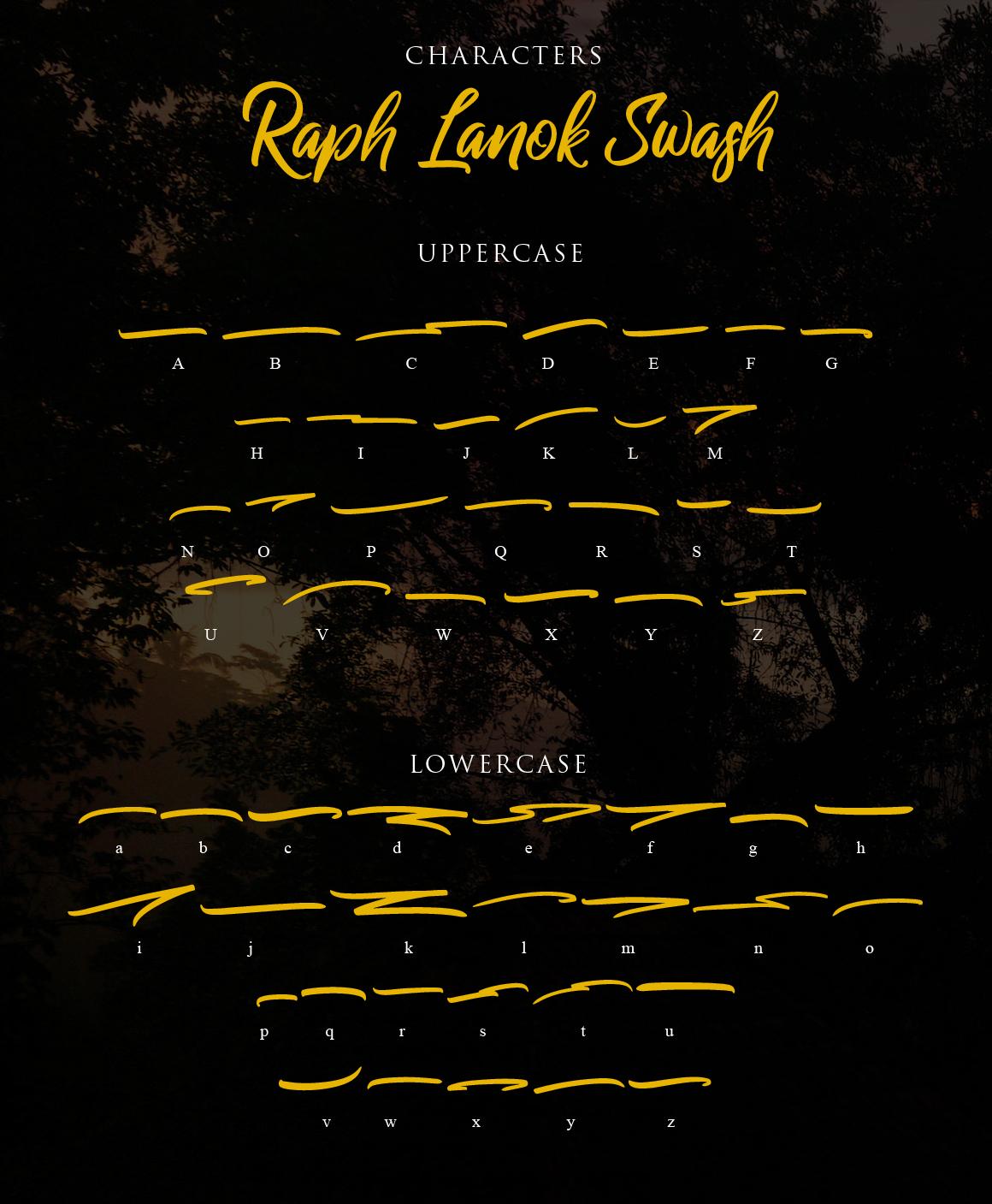 Raph Lanok Typeface example image 14