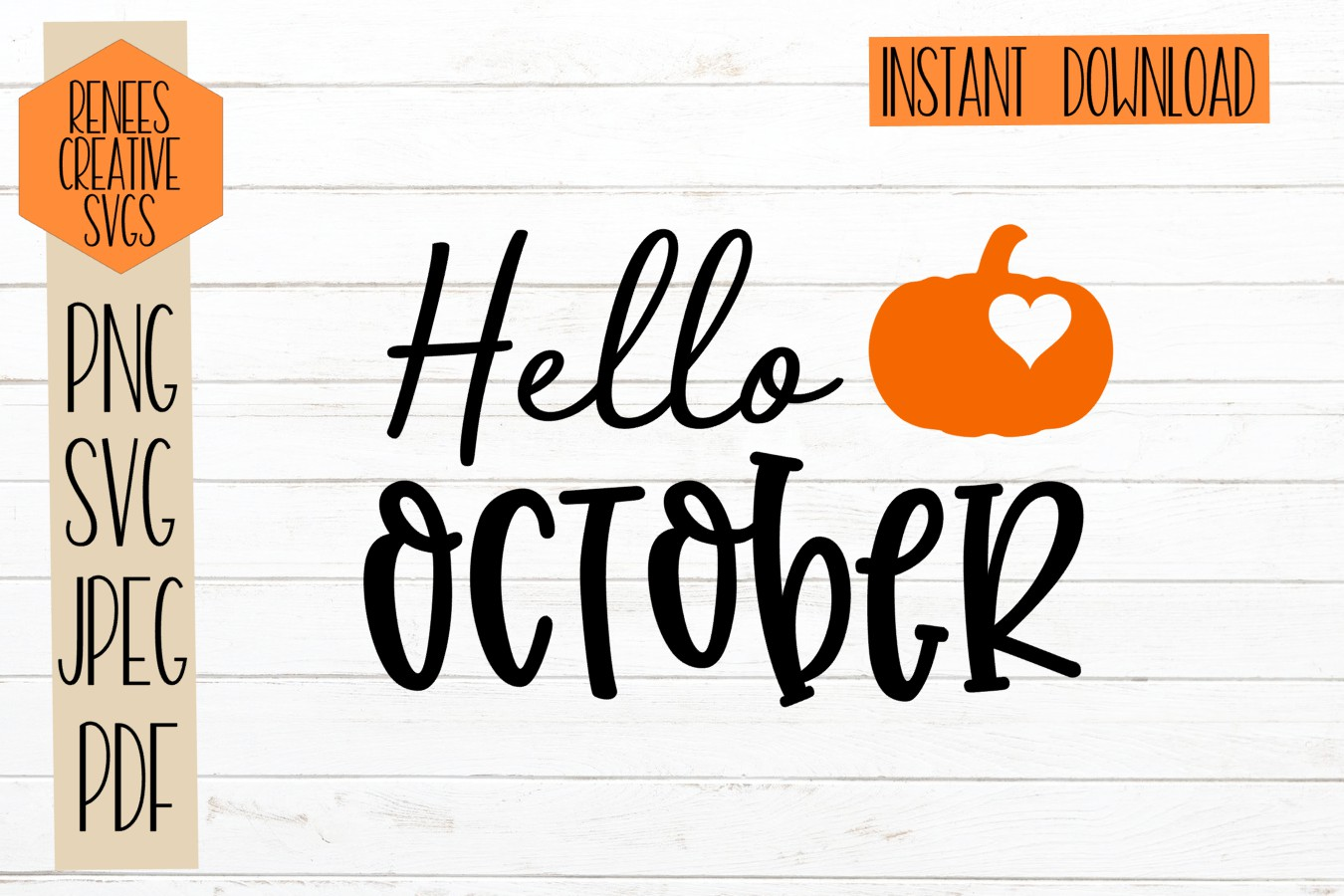 Hello October  Fall quotes  SVG Cut File example image 1