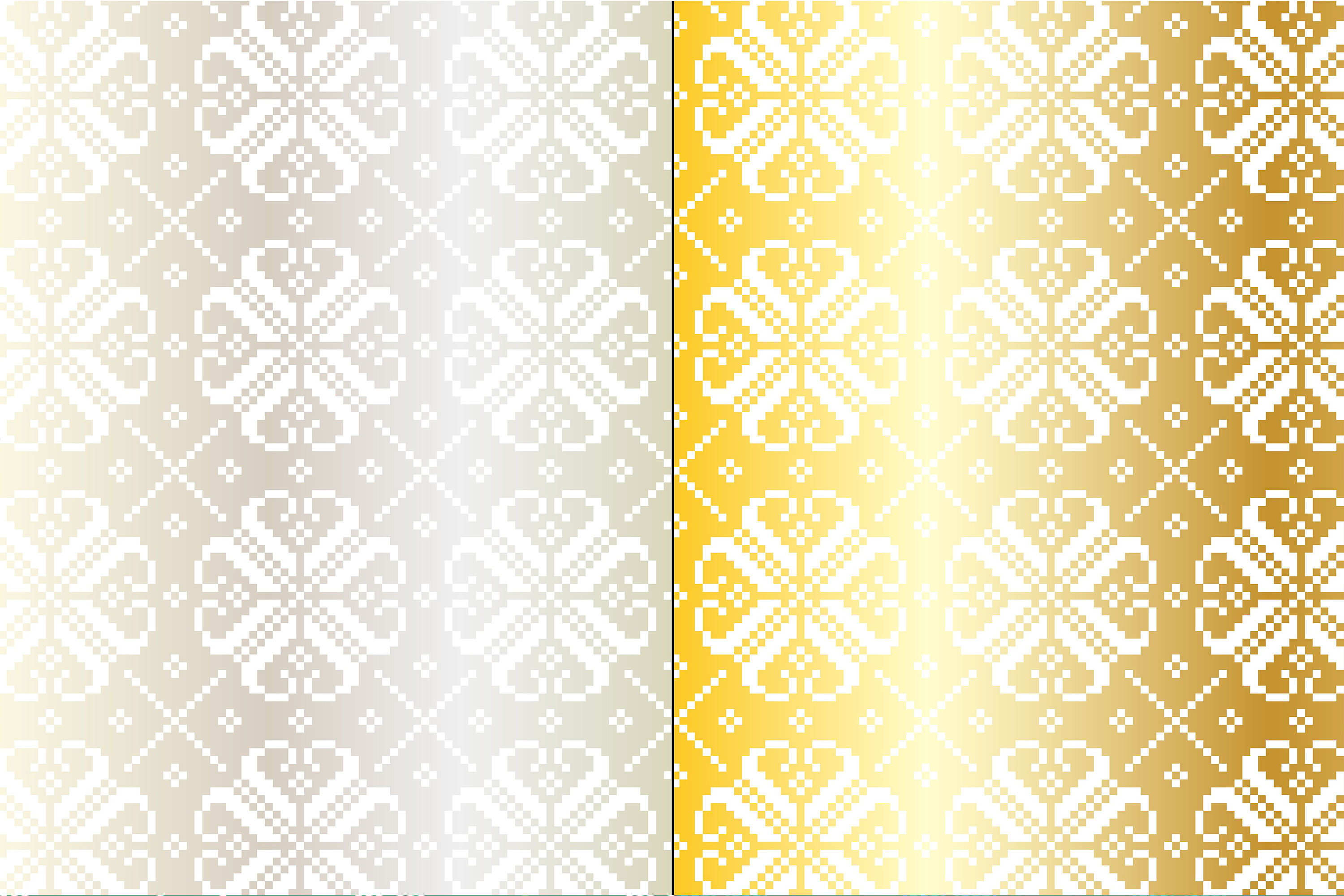 Silver & Gold Nordic Patterns example image 4
