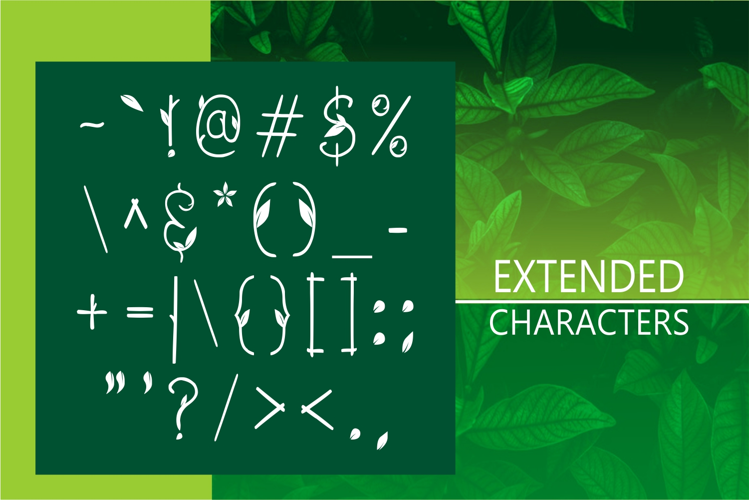 GREEN NATURE FONT example image 5