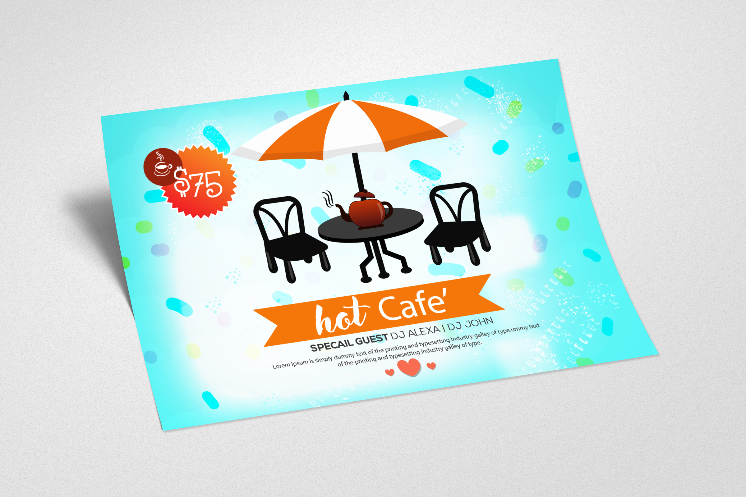 Hot Cafe Shop Card Template example image 2