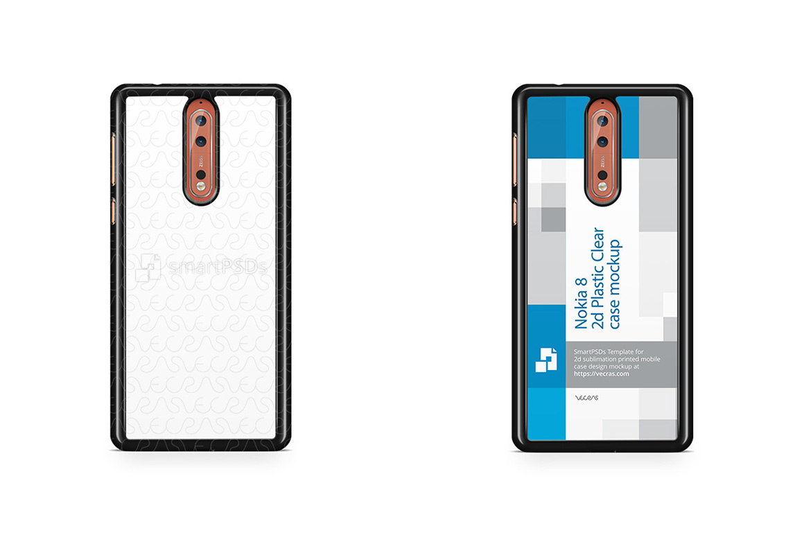 Nokia 8 2d PC Colored Mobile Case Design Mockup 2017 example image 1