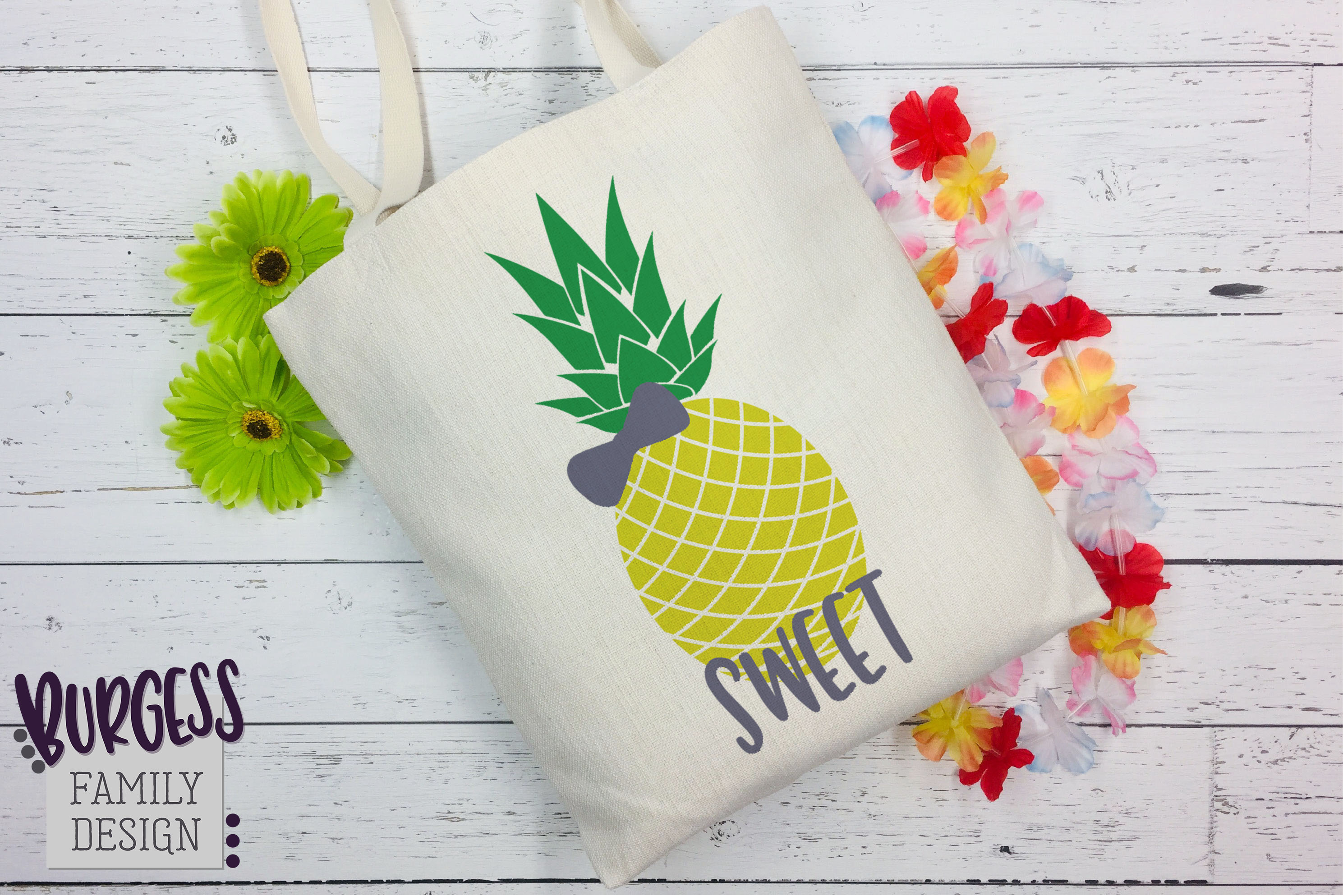 Pineapple bow Clipart   SVG DXF EPS PNG example image 1