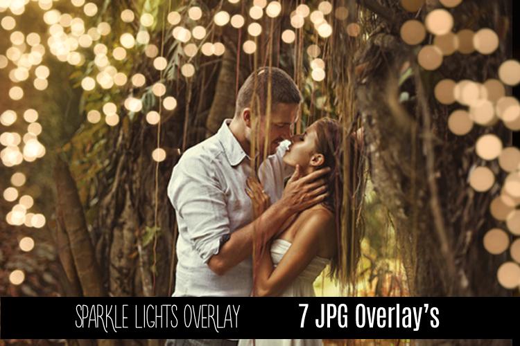 Digital Sparkle Bokeh Lights Effect Overlay JPG