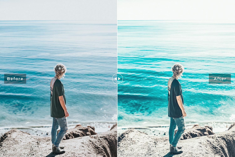 Ocean Blue Mobile & Desktop Lightroom Presets example image 3