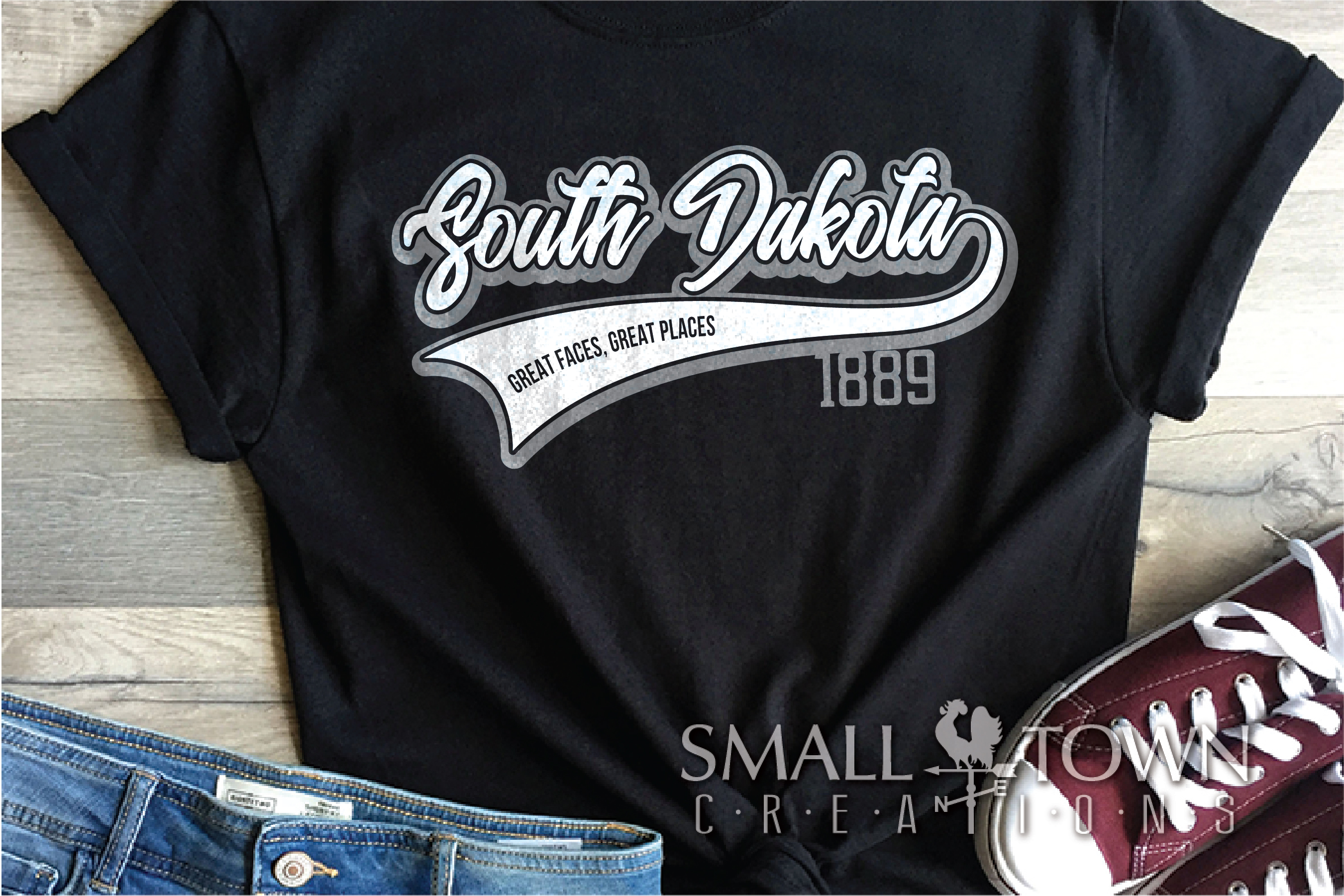 South Dakota, Great faces Great Places, PRINT, CUT & DESIGN example image 2