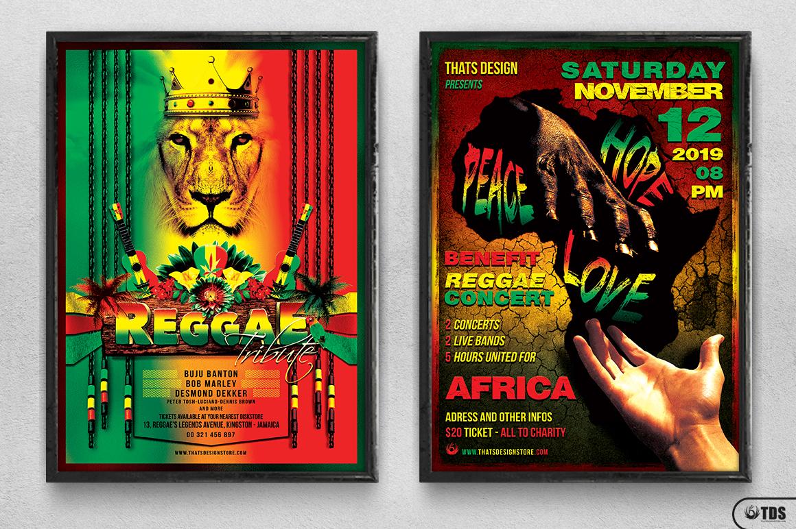Reggae Flyer Bundle example image 13