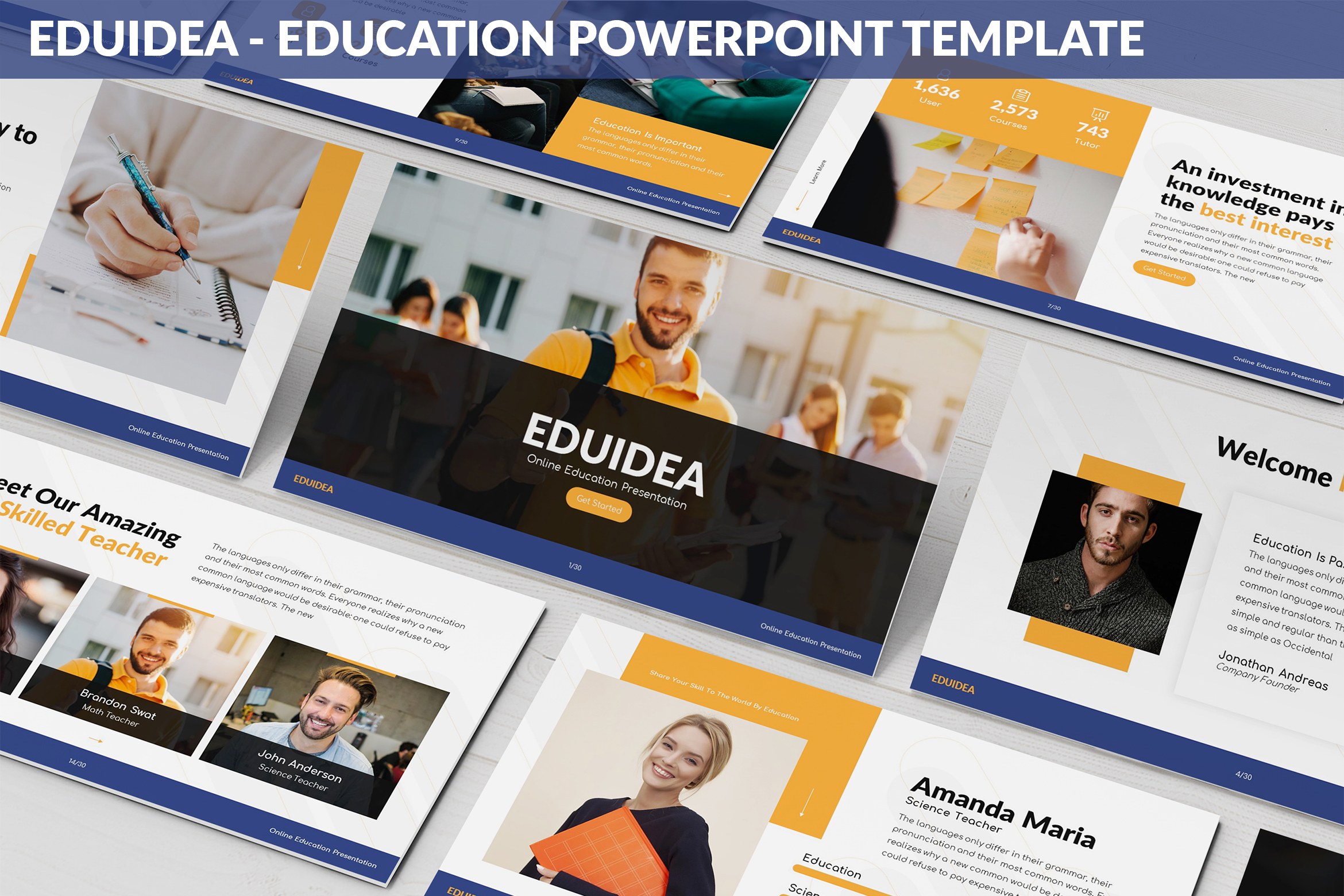 Eduidea - Education Powerpoint Template example image 1