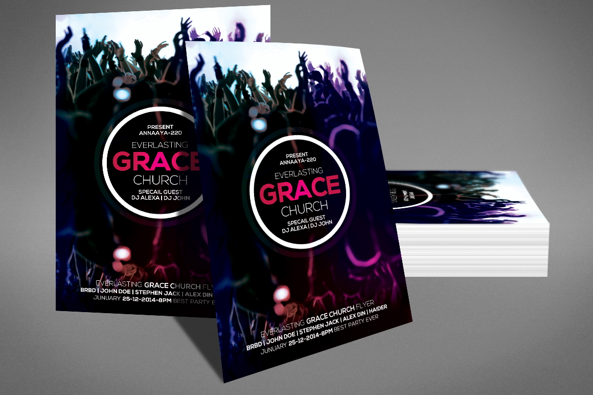 Grace Of God Church Flyer example image 3