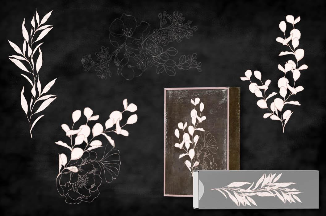 Blush foliage clip art bundle example image 6