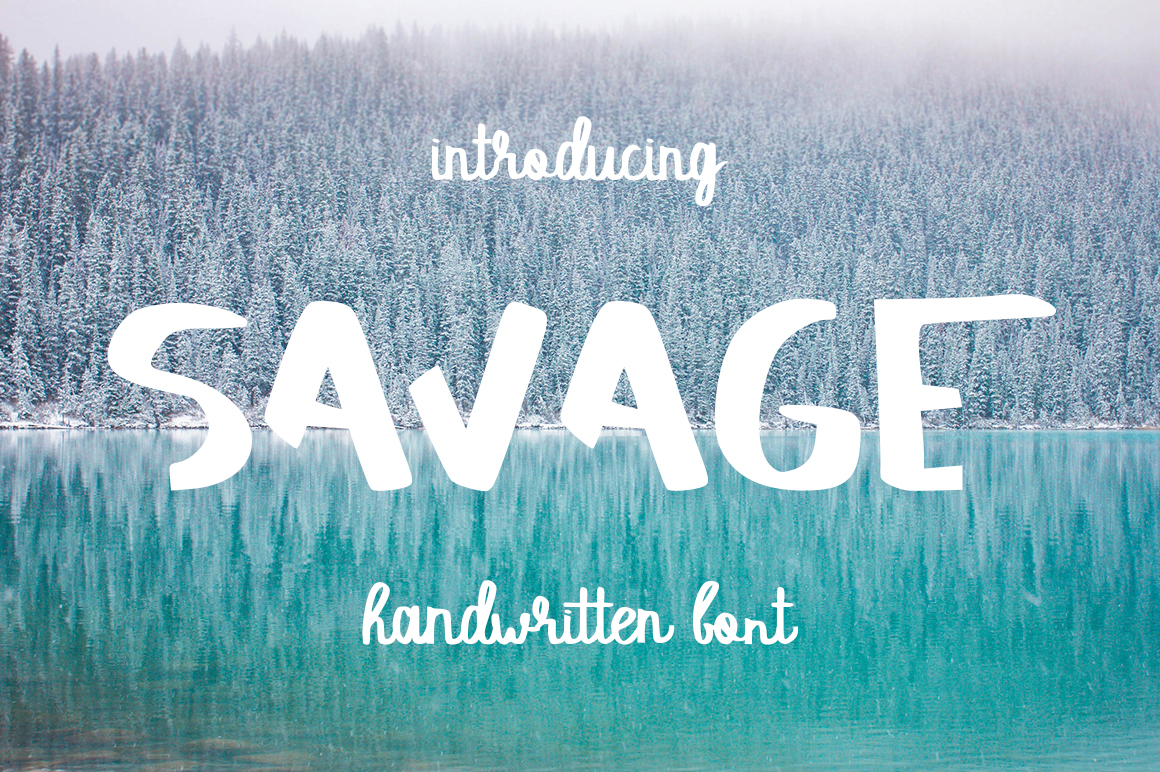 SAVAGE duo script font example image 1