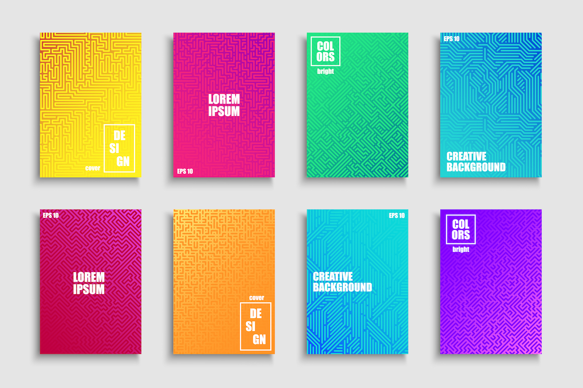 Colorful gradient digital posters example image 1