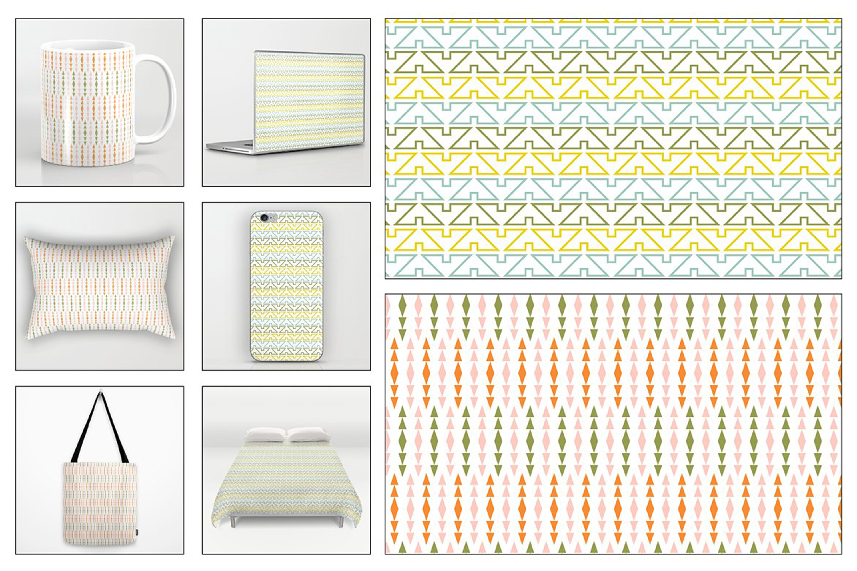 Seamless Pastel Native American Patterns example image 2
