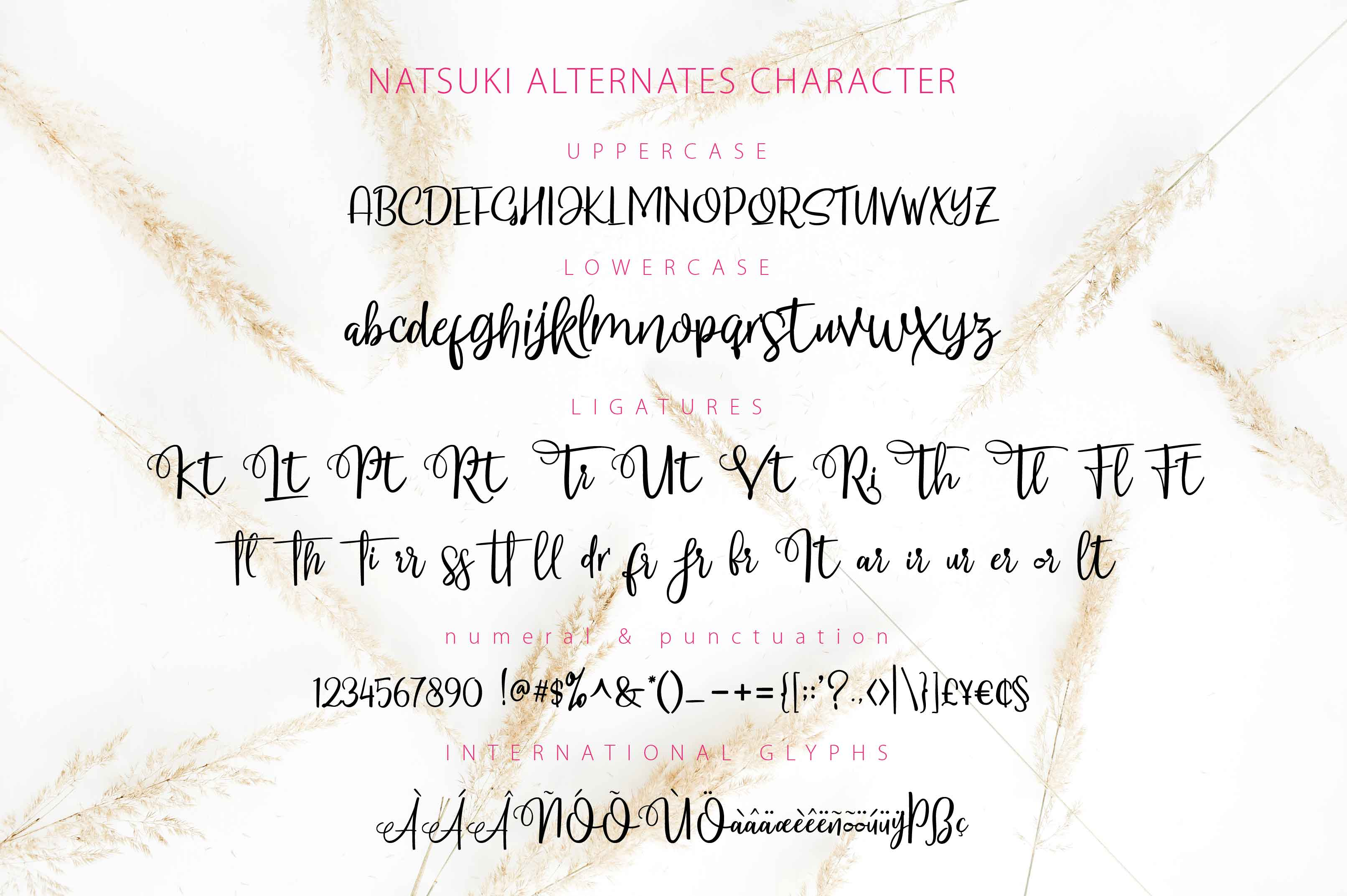 NATSUKI - Handlettered Script example image 5