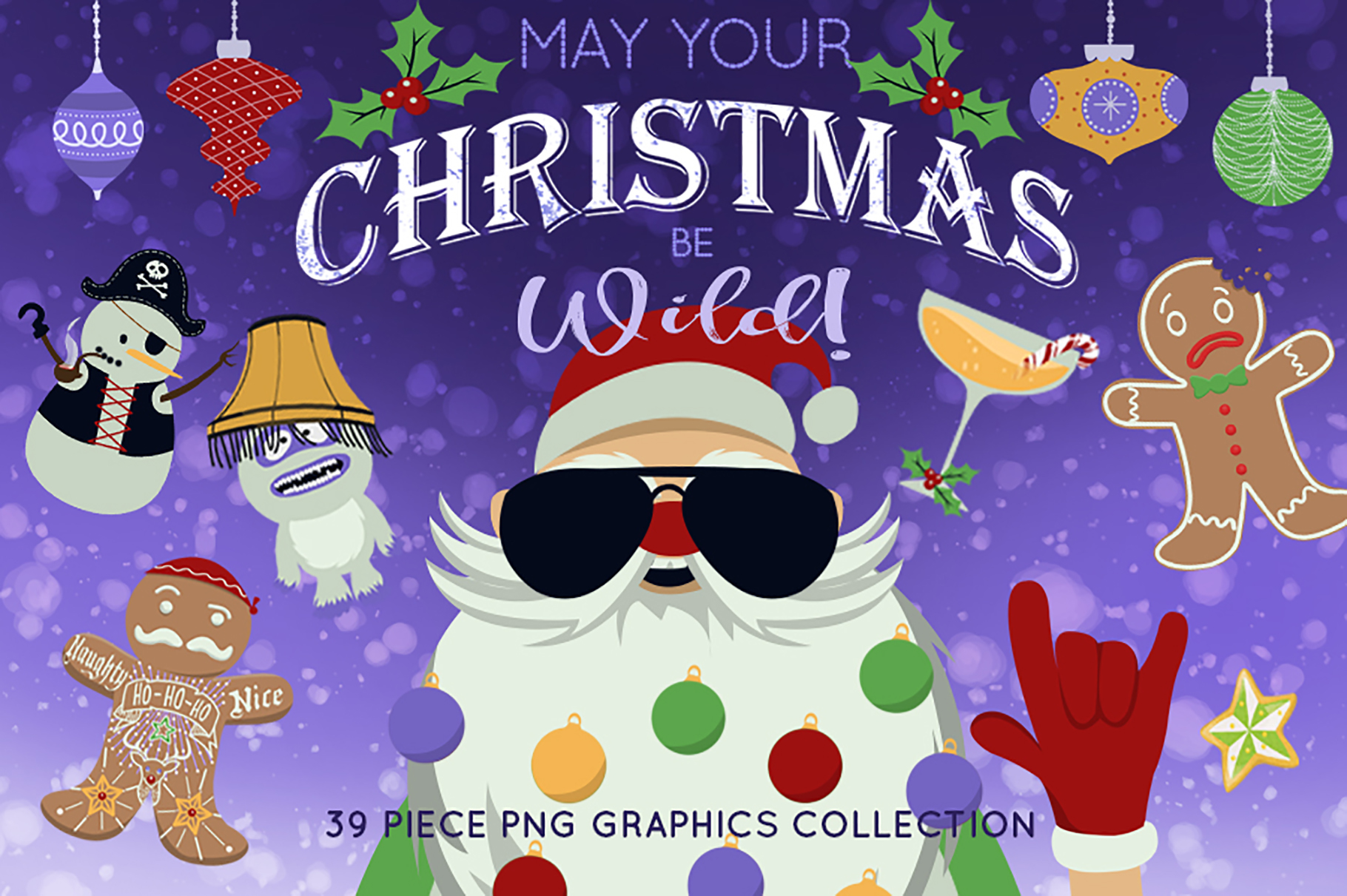 Wild Christmas Clip Art Collection example image 1