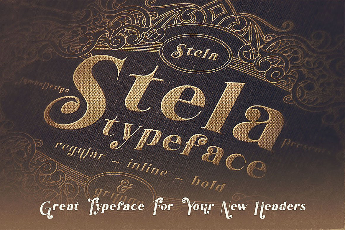 Stela - Display Font example image 5