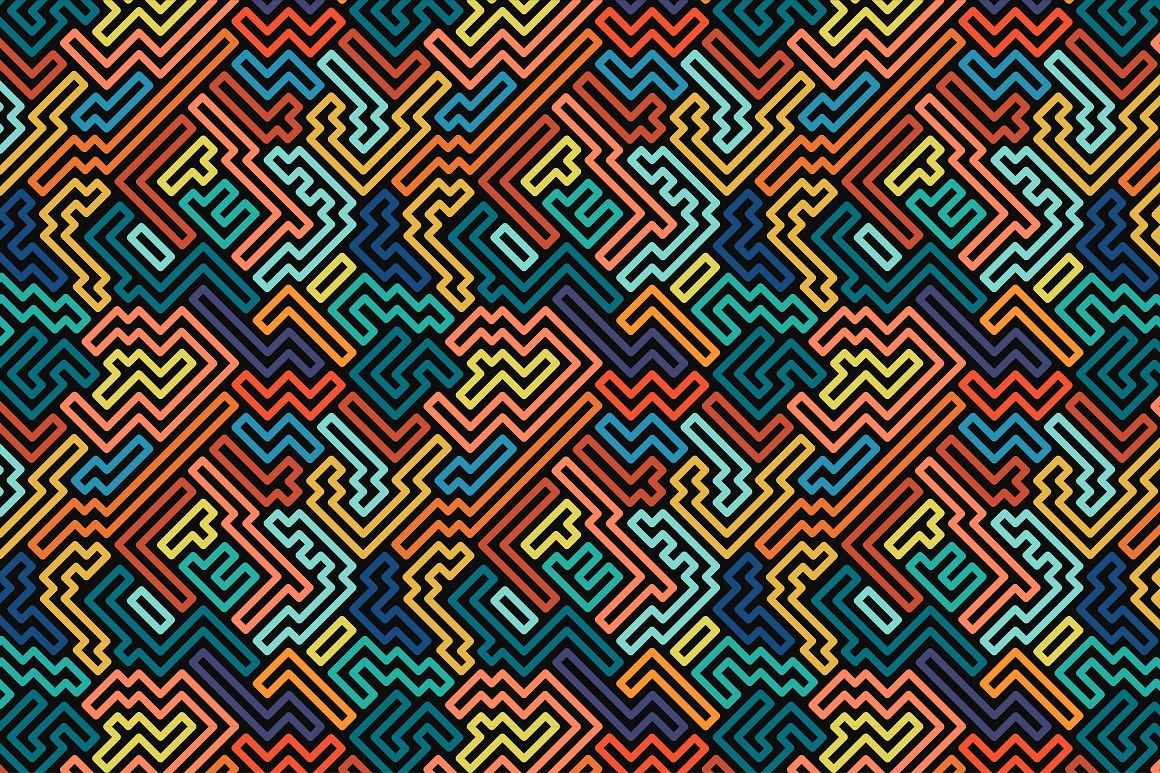 Colorful seamless striped patterns. example image 11