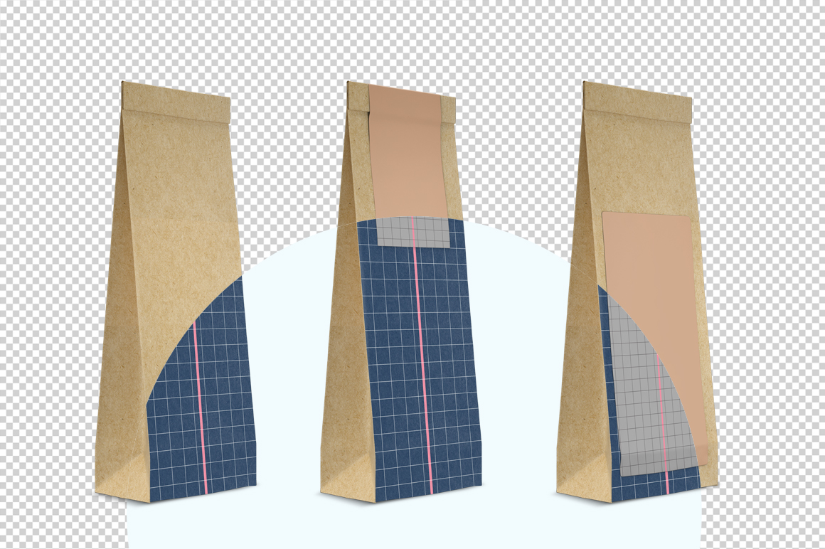 Craft paper pouch mockup. PSD mockup. PSD object mockup. example image 2