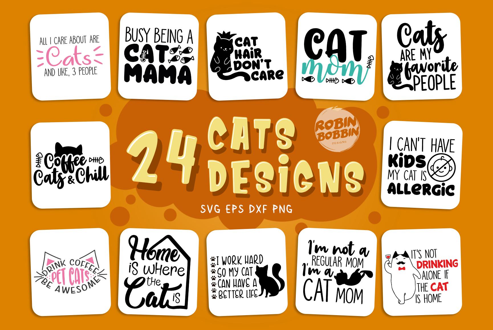 Cats SVG Bundle - Cat Quotes Bundle example image 1